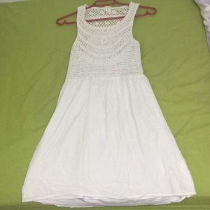 Streetwear Society White Crochet Dress